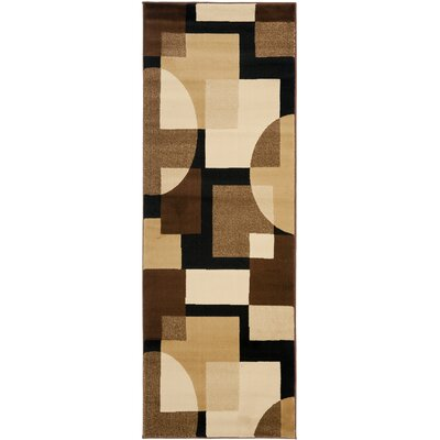 Charis Brown Geometric Area Rug Rug Size: Runner 24 x 9