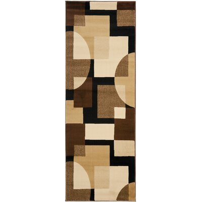 Charis Brown Geometric Area Rug Rug Size: Runner 24 x 67