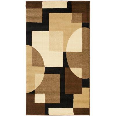 Nanette Brown Geometric Area Rug Rug Size: 4 x 57
