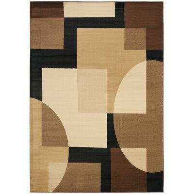 Charis Brown Geometric Area Rug Rug Size: 53 x 77