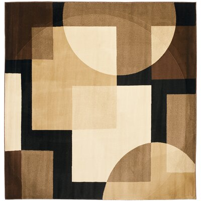 Nanette Brown Geometric Area Rug Rug Size: Square 7