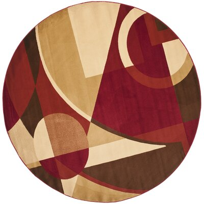 Charis Woven Area Rug Rug Size: Round 7