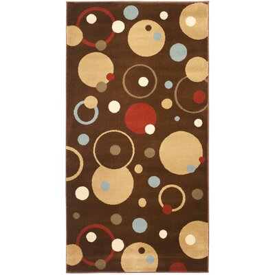 Nanette Brown Area Rug Rug Size: Rectangle 27 x 5