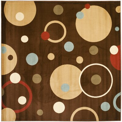 Nanette Brown Area Rug Rug Size: Square 7