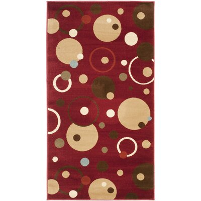Charis Red Area Rug Rug Size: Rectangle 27 x 5