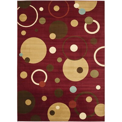 Charis Red Area Rug Rug Size: 67 x 96