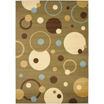 Charis Green Area Rug Rug Size: 53 x 77