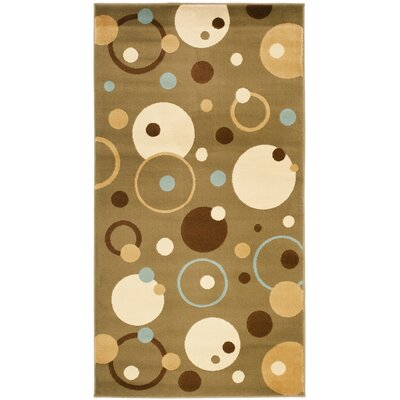 Charis Green Area Rug Rug Size: Rectangle 27 x 5