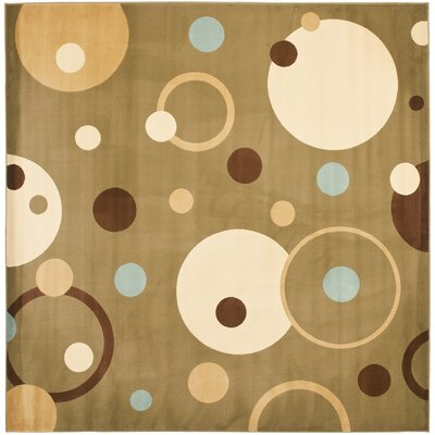 Charis Green Area Rug Rug Size: Square 7