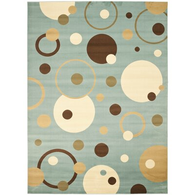 Nanette Flower-Petal Blue Area Rug Rug Size: Rectangle 8 x 112