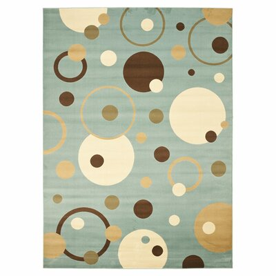 Nanette Flower-Petal Blue Area Rug Rug Size: Rectangle 53 x 77