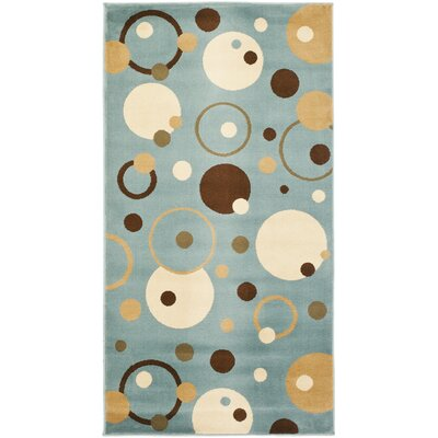 Nanette Flower-Petal Blue Area Rug Rug Size: Rectangle 27 x 5
