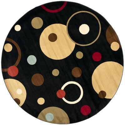 Charis Geometric Area Rug Rug Size: Round 7