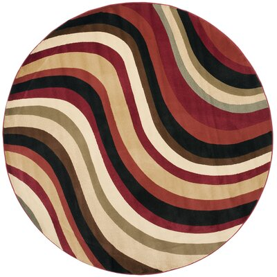 Charis Contemporary Area Rug Rug Size: Round 7