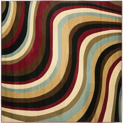 Charis Contemporary Geometric Area Rug Rug Size: Square 7