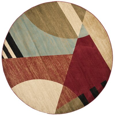 Charis Flower-Petal Area Rug Rug Size: Round 5