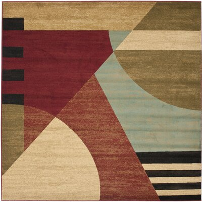 Charis Flower-Petal Area Rug Rug Size: Square 7
