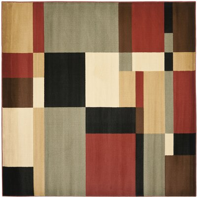 Charis Geometric Woven Area Rug Rug Size: Square 5