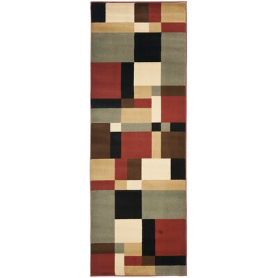 Charis Geometric Woven Area Rug Rug Size: Runner 24 x 67