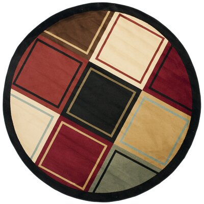 Nanette Area Rug Rug Size: Round 5'