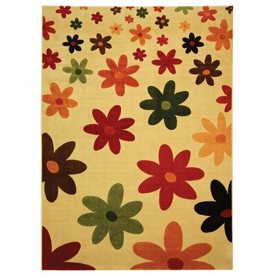 Nanette Beige Area Rug Rug Size: Rectangle 53 x 77