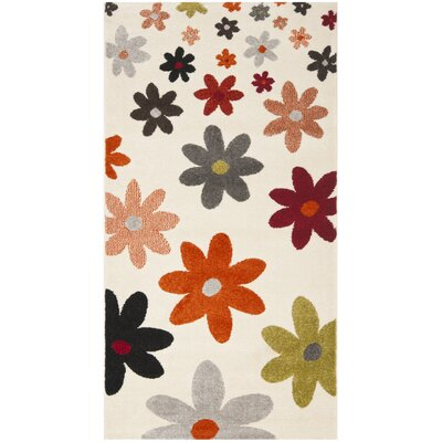 Charis Ivory Area Rug Rug Size: Rectangle 2 x 37