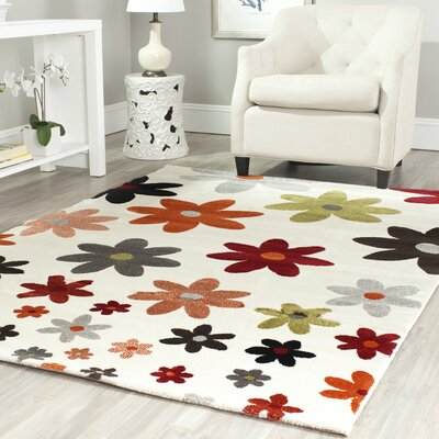 Charis Ivory Area Rug Rug Size: Rectangle 53 x 77