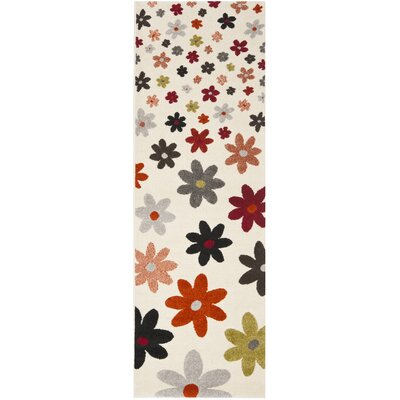Charis Ivory Area Rug Rug Size: Rectangle 27 x 5