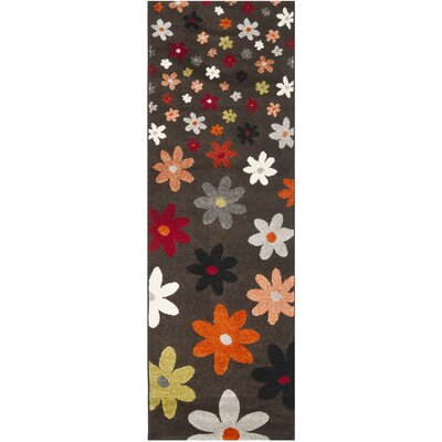 Nanette Brown Area Rug Rug Size: Runner 24 x 67