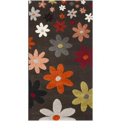 Nanette Brown Area Rug Rug Size: 53 x 77