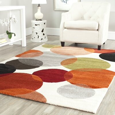 Nanette Ivory Area Rug Rug Size: Rectangle 4 x 57