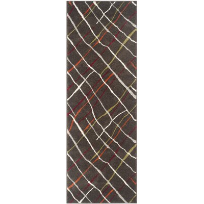 Charis Brown / Multi Contemporary Rug Rug Size: Runner 24 x 67