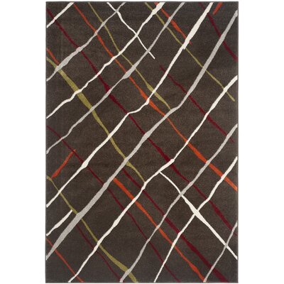 Charis Brown / Multi Contemporary Rug Rug Size: 53 x 77