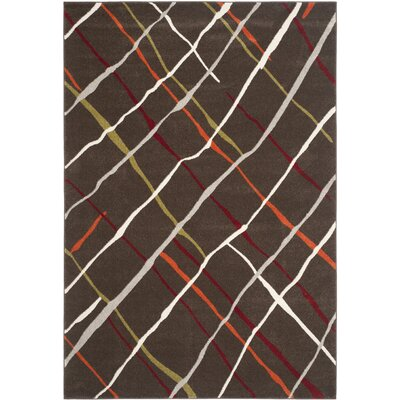 Charis Brown / Multi Contemporary Rug Rug Size: 67 x 96