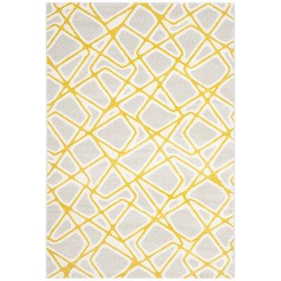 Nanette Light Gray / Yellow Area Rug Rug Size: Runner 27 x 5