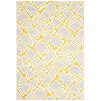 Nanette Light Gray / Yellow Area Rug Rug Size: 8 x 112
