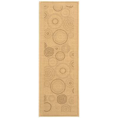 Mullen Geometric Circles Outdoor Rug Rug Size: Runner 24 x 67