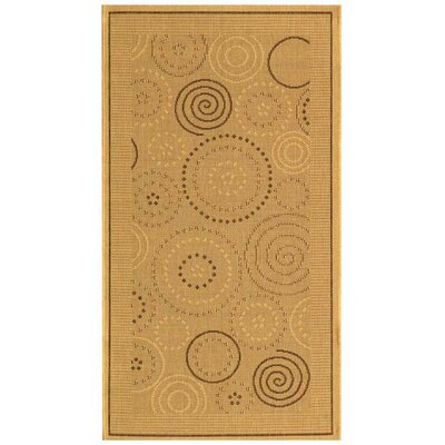 Mullen Geometric Circles Outdoor Rug Rug Size: Rectangle 27 x 5