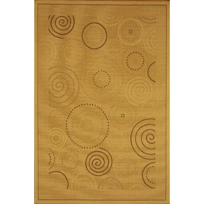 Mullen Geometric Circles Outdoor Rug Rug Size: Rectangle 53 x 77