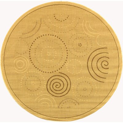 Mullen Geometric Circles Outdoor Rug Rug Size: Round 53
