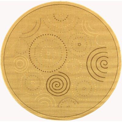 Jada Circles Outdoor Rug Rug Size: Round 67