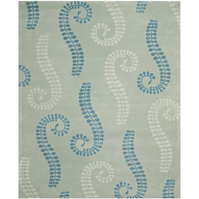 Andersen Silver / Light Blue Area Rug Rug Size: Rectangle 8 x 10