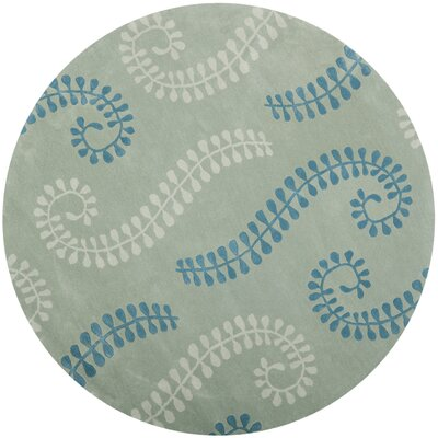 Andersen Silver / Light Blue Area Rug Rug Size: Round 7