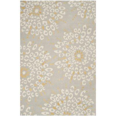 Andersen Grey / Ivory Area Rug Rug Size: 6 x 9