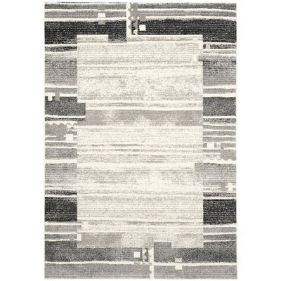 Ora Cream/Dark Gray Area Rug Rug Size: 4 x 6
