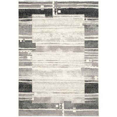 Milano Cream/Dark Gray Area Rug Rug Size: 4 x 6