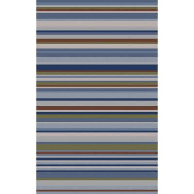 Dixon Multi-Colored Striped Rug Rug Size: 5 x 8