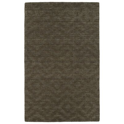 Dobson Tufted Chocolate Geometric Area Rug Rug Size: 96 x 136
