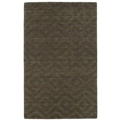 Dobson Tufted Chocolate Geometric Area Rug Rug Size: 8 x 11