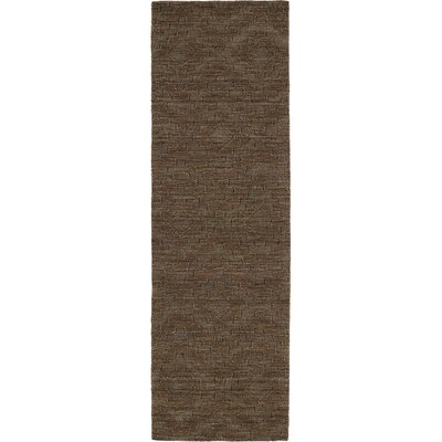 Dobson Tufted Chocolate Geometric Area Rug Rug Size: Runner 26 x 8